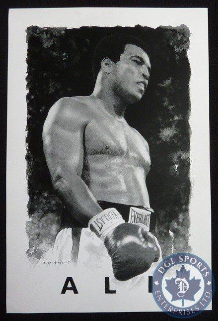 Muhammad Ali Sportrait By Artist Glen Green Dgl Sports