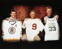 Bobby Orr& Ted Williams & Larry Bird - Boston Sports Icons