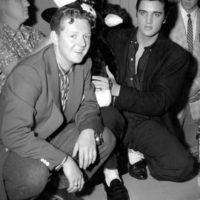 Red Robinson with Elvis in Vancouv