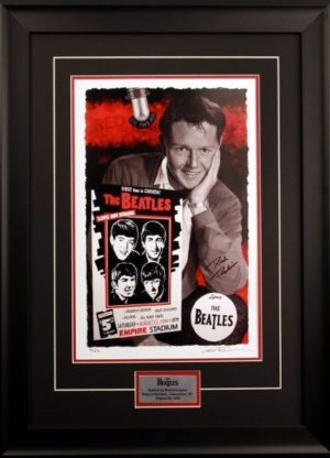 Red Robinson and The Beatles - framed limited edition