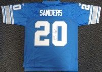 Barry Sanders signed Lions Jersey