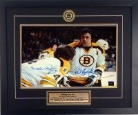 Bobby Orr and Phil Esposito signed