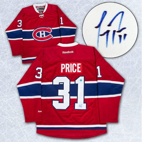 factory authentic 4c2ed 05f9d Carey Price - signed Montreal Canadiens #31 jersey
