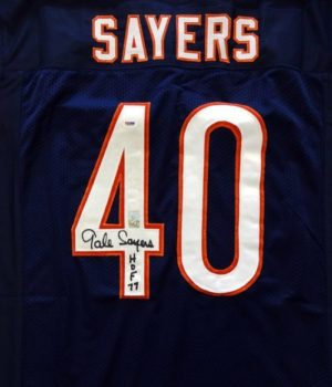 Gale Sayers signed jersey