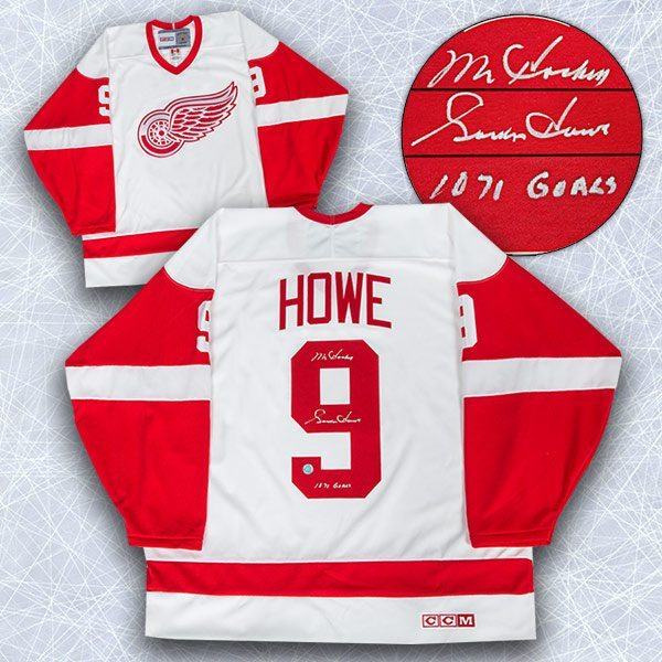 more photos 385ad 5abce Gordie Howe Detroit Red Wings Autographed Retro CCM Jersey w/ 1071 Goals  (White)