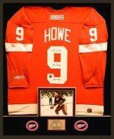 Gordie Howe Deluxe Jersey Framing