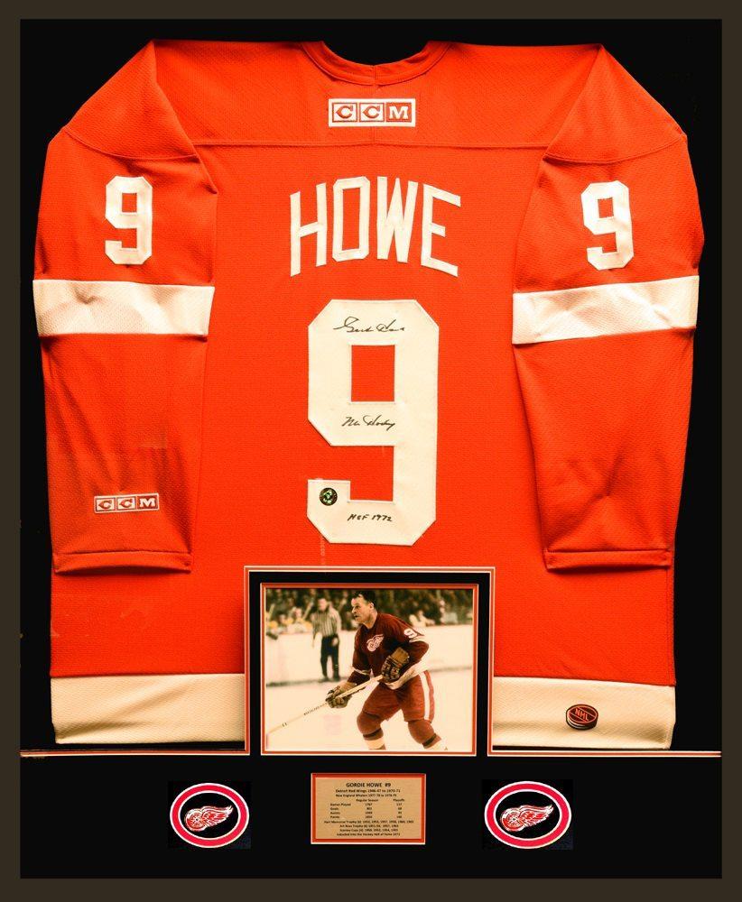 d0f9abae3f8 Gordie Howe – Custom Framed Signed Jersey | DGL Sports - Vancouver ...