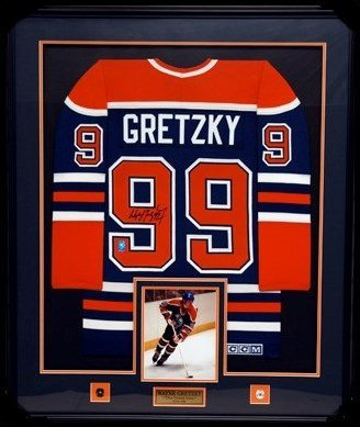 "Wayne Gretzky – Custom Framed Oilers Jersey – ""Signed"" 
