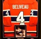 Jean Beliveau – Autographed Custom Framed Montreal Canadiens Jersey