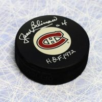 Jean Beliveau signed puck