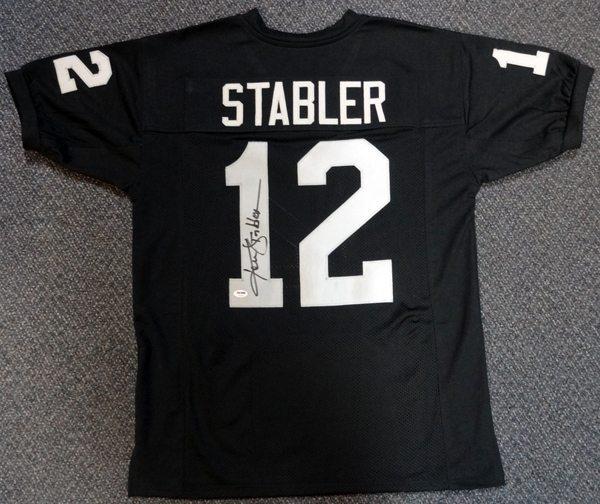 buy popular 15079 b0354 Ken Stabler Autographed Black Oakland Raiders Jersey