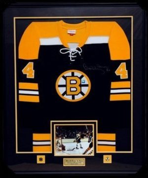 Custom Framed Autographed Jersey of Bobby Orr