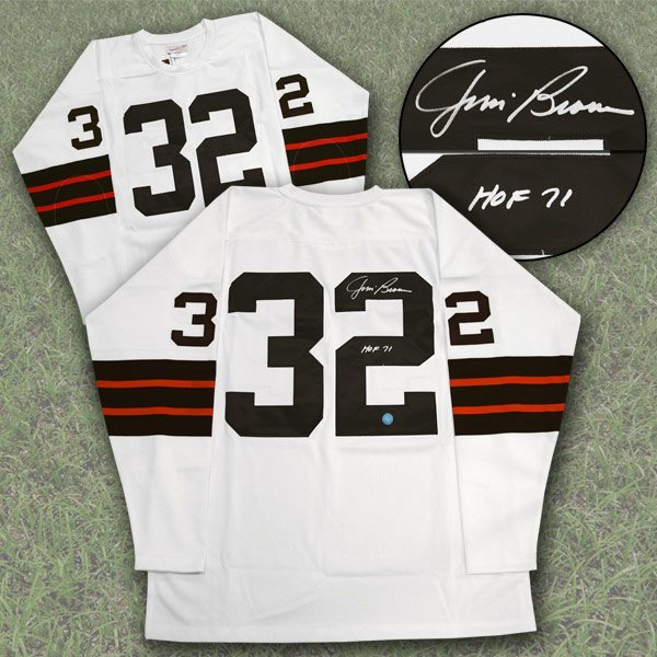 Jim Brown Cleveland Browns Autographed Mitchell & Ness ...