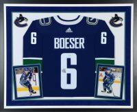 Brock Boeser framed jersey
