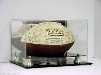 Football Display Case with Mirror