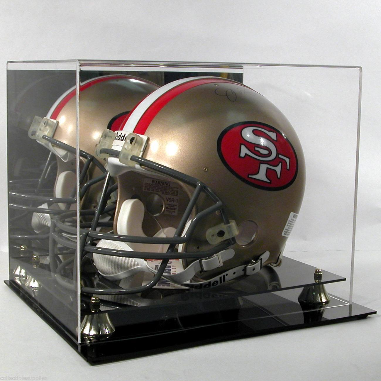 Football Helmet Display Case with Mirror