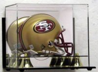 Mini Football Helmet with Display Case and Mirror
