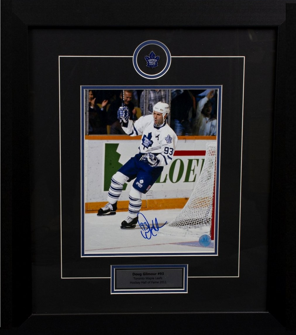 "Doug Gilmour – ""Signed"" custom framed 8×10 Photo ""Killer""  55784a9ef"