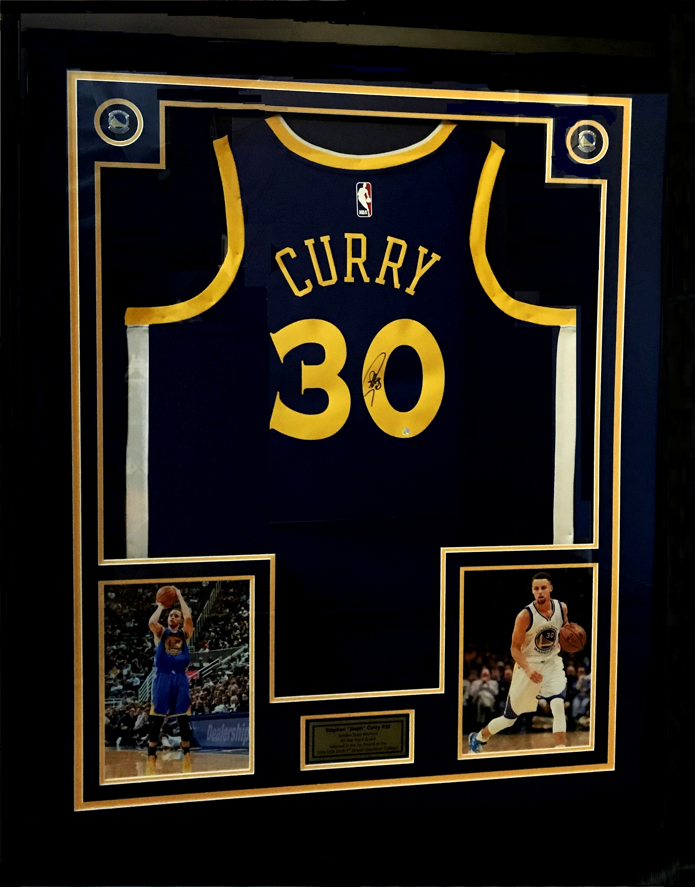 "9bf00cd7cdc Stephen Curry – NEW ITEM JUST ARRIVED Golden State Warriors ""SIGNED"" Jersey"